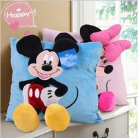 3D Mickey Mouse and Minnie Mouse Plush Pillow Kawaii Mickey and Minnie Plush Toys Kids Toys
