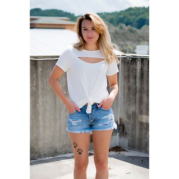 Slice of My Heart Top- Ivory