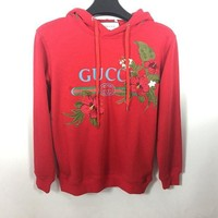 Gucci Flower Embroidered Sweater Hoodie