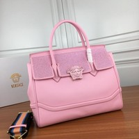HCXX V0014 Versace Diamante Chain Type Carrying Handbag 32.5-28-14cm Pink