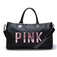 PINK Victoria's Secret Print Durable Sport Exercise Gym Hand Pocket Travel Luggage Bag