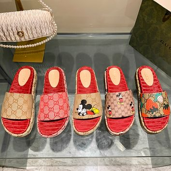 GUCCI  New one character thick sole slippers