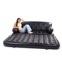 Smart Air Beds King Sized 5 x 1 Inflatable Sofa Bed, Black