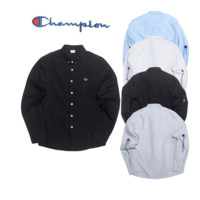 Tide brand Champion retro small long - sleeved shirt casual wild simple shirt tide men and women Black