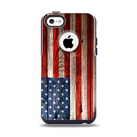 The Wooden Grungy American Flag Apple iPhone 5c Otterbox Commuter Case Skin Set