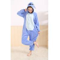 All in One Flannel Anime Pijama Cartoon Cosplay Warm Easy for Bathroom Adult Unisex Homewear Onesuits Animal Pajamas Stichhot
