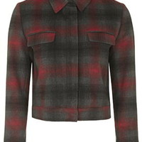 Checked Harrington Jacket - Red