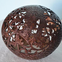 Carved Coconut with Dragon Design III