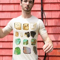 Minerals Rock T-shirt Vintage Geology Science Graphic tee shirt