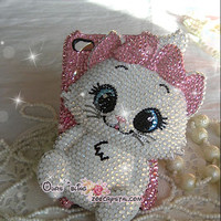 Bling Bling Crystal 3D Marie cat iPhone case Samsung S3 case - ZoeCrystal
