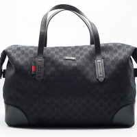 Gucci Original Large Black GG canvas Carry-On Duffle Bag