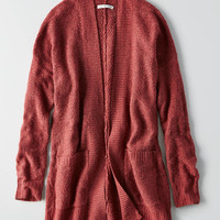 AEO Open Front Cardigan , Pink