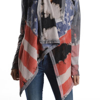 T-Party American Flag Cardigan