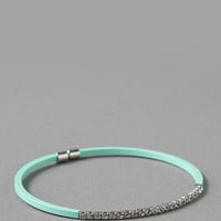 PALM BEACH CRYSTAL BANGLE IN MINT