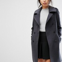 Gianni Feraud Military Coat with Contrast Piping at asos.com