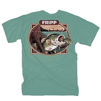 Bass Underwater T-Shirt in Light Green by Fripp Outdoors