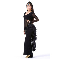 New Belly Dance Costume Tassel Wrap Belt Chain Skirts Chiffon Hip Scarf Tribal Waves SM6