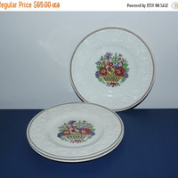 ON SALE Wedgwood Patrician Windermere made in England Dinner Plates (Set of 3), vintage plates, flower plates