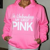 Pink Victoria S Secret Letter Print Hoodie Top Sweater