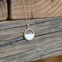 Round Sea Salt Pendant Necklace