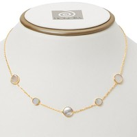 Honora 14K Yellow Gold Mother of Pearl Station Necklace