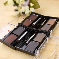 Waterproof eyebrow powder for women, shadow eye brow with brush 2 color eyebrow cake makeup palette make up set kit