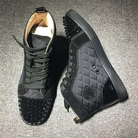 Cl Christian Louboutin Lou Spikes Style #2218 Sneakers Fashion Shoes