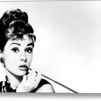 Audrey Hepburn Stretched Canvas Print / Canvas Art By Csongor Licskai