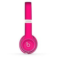 The Solid Pink V2 Skin Set for the Beats by Dre Solo 2 Wireless Headphones
