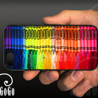 iPhone 5 case, Melting Crayola Crayons design, custom cell phone case, Original design