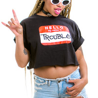 Vintage 90's Here Comes Trouble Top - One Size Fits Many