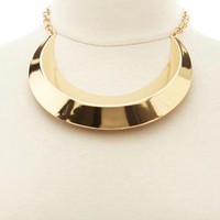 Gold Crescent Collar Necklace by Charlotte Russe - Gold