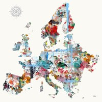 """""""Europe Map"""" - Art Print by Brian Buckley"""