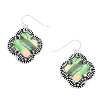 Clover Earrings with Abalone Inlay