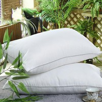 BeddingOutlet Down Alternative Filling Pillow feather velvet Bedding Pillow Fabric Cotton Washable Soft Warm Neck Heath 48x74cm