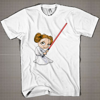 Princess Leia Mini  Mens and Women T-Shirt Available Color Black And White