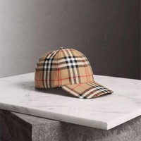BURBERRY vintage-check cap