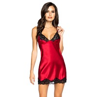Sexy Look At Her Now Soft Satin and Lace Chemise