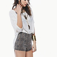 Free People Womens Print Side Zip High Rise - Tiger,