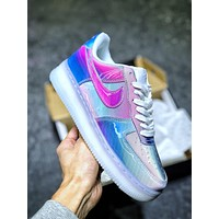 "Nike Air Force 1'07 Demon Low ""Night Devil 5D Gradual Flash"" Lower Band Leisure Shoes"