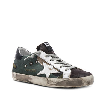 Golden Goose Superstar Sneakers in Camou, Grey & White | FWRD