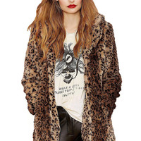 Fur Coat in Leopard Print