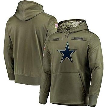Dunbrooke Apparel Dallas Cowboys Salute to Service Hoodie Camo Men XL