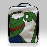 Backpack for Student - Pepe The Frog Crying Bags