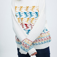 Cooperative Ski Jumper in Ivory - Urban Outfitters