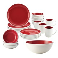 Rachael Ray Rise 21-pc. Dinnerware Set (Red)