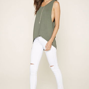 Curved-Hem Muscle Tee | Forever 21 - 2000177184