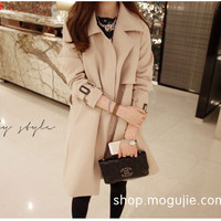 Fall Clothes Khaki Trench Coat