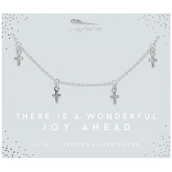 Wonderful Joy Cross Silver Necklace