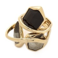 Alexis Bittar Starlight Marquis Cluster Band Ring